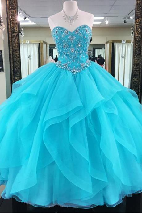 Turquoise Quinceanera Dresses,Ball Gowns Prom Dresses,Sweet 16 Dresses,Elegant Quinceanera Dresses, PD1224
